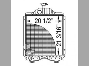 Radiator Kubota M8970 M9580 M8950 15484-72060