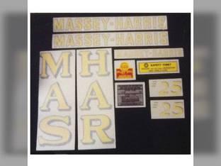 Massey Harris Decal Set Vinyl Massey Ferguson 25
