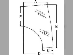 Cab Glass - Door LH Kubota L4740 L3540 L5450 L4330 L3240 L3940 L3430 L5030 L5240 L4630 L4240 L5740 T1155-70772