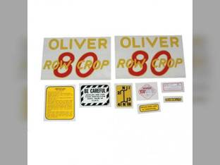 Tractor Decal Set 80 Row Crop Mylar Oliver 80