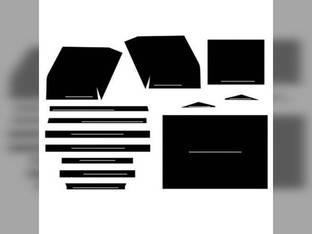 Cab Foam Kit with Headliner 13 Pieces Black International 1206 1456 826 706 756 1566 806 1256 1466 1026 856 1066 966 656