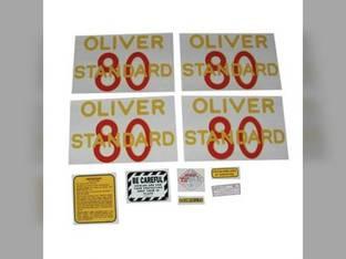 Tractor Decal Set 80 Standard Mylar Oliver 80