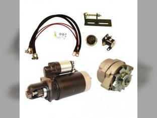 Alternator & Starter Conversion Kit - 24V to 12V John Deere 3010 4010 4020 3020