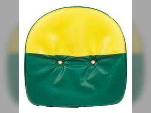 "Pan Seat 21"" Deluxe Cushion with Drain Holes Vinyl Yellow & Green John Deere GH GN 2020 1010 G L 780 H D 2030 B A GW 45 1020"