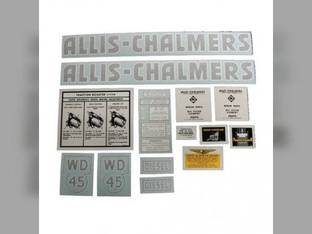 Decal Set WD45 Diesel Vinyl Allis Chalmers WD45