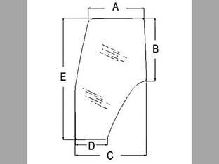 Cab Glass - Door RH New Holland TL80 TS115 TS90 TM135 TS110 TM150 TL90 TM140 TM165 TM120 TL90A TM115 TL100 TM130 TM155 TL70 TM125 TS100 Case IH MXM120 MXM175 JX1090U MXM155 MXM130 MXM190 MXM140