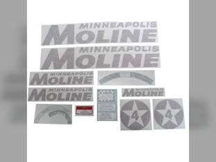 Tractor Decal Set 4 Star Red Vinyl Minneapolis Moline 4 Star