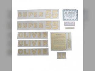 Tractor Decal Set Super 55 Vinyl Oliver Super 55