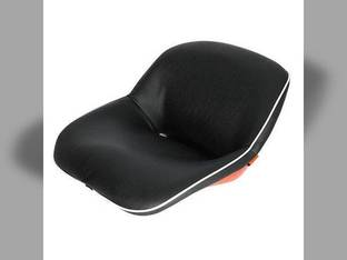 Seat Assembly Vinyl Black with Orange Steel Backed Seat Kubota L285 M4050 L345 L2050 B4200 M5500 M4500 L295 L225 B6100 M4000 L355 L260 L2350 B7100 L210 L235 B8200 L245 B5100 L175 M7500 L185 L200 L275