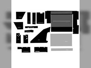 Cab Foam Kit less Headliner Black International 3688 5088 6588 7488 3288 6788 6388 3488 7288 3088 5288 5488