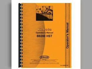 Operator's Manual - KU-O-B8200HST Kubota B8200