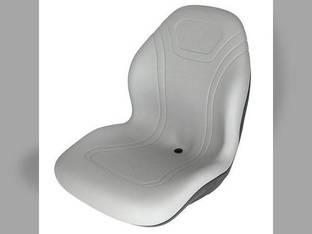 Bucket Seat Vinyl Gray John Deere 70 4710 3120 8875 315 240 4720 4700 2320 250 4520 320 260 270 4320 4400 2520 Case 410 1840 1845C 40XT 430 450 60XT 440 420 70XT 1845 Gehl Case IH Caterpillar Montana