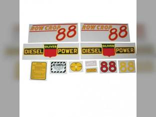 Tractor Decal Set 88 Row Crop Diesel Red Mylar Oliver 88