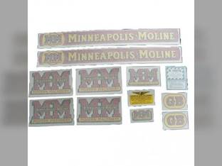 Tractor Decal Set GB Vinyl Minneapolis Moline GB