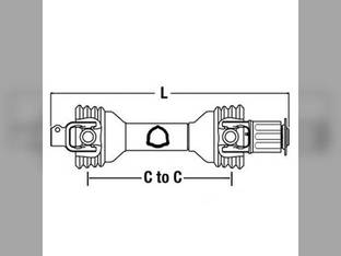 Universal PTO Driveline Extra Long Hay Tedder CS45513 Vermeer TD200 TD120 502700002