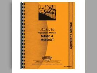 Operator's Manual - KU-O-M4500+DT Kubota M4500 M4500 M4500