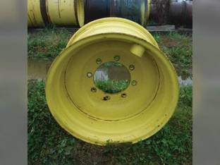"Used 14"" x 24"" 5 7/8"" & 8 7/8"" Offset 8 Bolt Front and Rear Rim John Deere 3400 3420 3415 3800 3200 3215 3220 AZ55070"