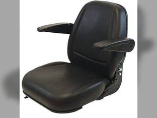 Seat Assembly - Deluxe High-Back with Armrest 230 Series New Holland LS170 L170 LS160 John Deere 240 320 315 Kubota Caterpillar Bobcat T190 T190 T190 S185 S175 773 773 753 Gehl Mustang Case 1845C