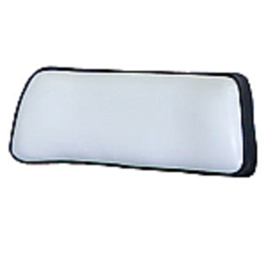 Seat Back, Small Upper - Black and White Vinyl