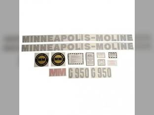 Tractor Decal Set G1050 Vinyl Minneapolis Moline G1050