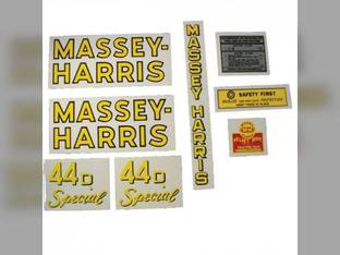Tractor Decal Set 44D Special Mylar Massey Harris 44