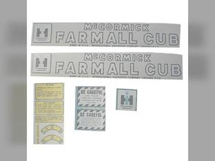 Tractor Decal Set Farmall Cub Vinyl International Cub