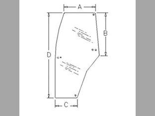 Cab Glass - Door LH McCormick CX100 CX95 CX75 MC115 CX90 MTX135 MTX150 MC100 CX70 CX105 MTX110 CX80 CX85 MC90 Case IH MX110 MX170 MX150 C100 C50 MX90C C90 MX120 MX80C MX100C C70 C80 MX100 C60 MX135
