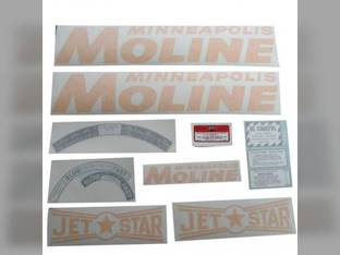 Tractor Decal Set Jet Star Gold Vinyl Minneapolis Moline Jet Star