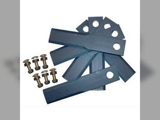 "Straw Chopper Blade Kit - 8-3/8"" Double Bevel John Deere 9400 7721 9500 9600 8820 7720 AH171588"