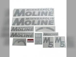 Tractor Decal Set M5 Black Vinyl Minneapolis Moline M5