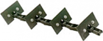 Return Grain Elevator Chain, Long Return - Rubber Paddle