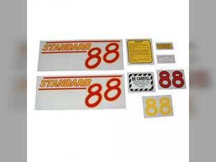 Tractor Decal Set 88 Standard Red Mylar Oliver 88
