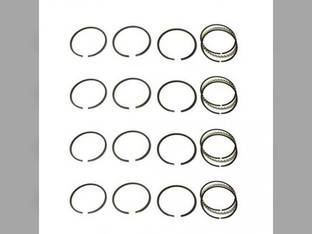 "Piston Ring Set - .030"" Oversize - 4 Cylinder Massey Harris 102 22 82 23 101 Oliver Super 44 440 Continental F140"