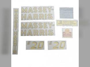 Decal Set Vinyl Massey Harris 20