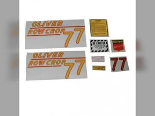 Tractor Decal Set 77 Row Crop Yellow Mylar Oliver 77