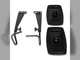 "Tractor Mirror Kit w/Extendable Arms 9"" x 16"" John Deere 7700 7720 4320 Ford Case IH International 826 806 1466 1086 986 1066 1486 966 Case Allis Chalmers Massey Ferguson New Holland Versatile White"