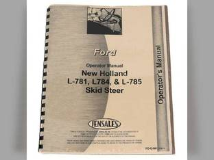 Operator's Manual - L781 L784 L785 New Holland L785 L783 L781 L784