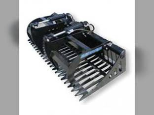 "Blue Diamond - Skid Steer Rock Bucket Grapple 72"" Width"