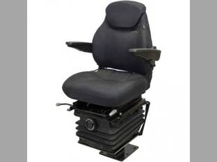 Seat Assembly - Mechanical Suspension w/Armrests 580 Series Backhoe Seat Fabric Black Case 590 Super L 580K 580SD 480C 480F 580 Super L 580D 580C 580SK 480E 570LXT 480D 780B 580M 580 Super M 580L