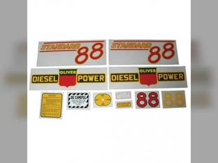 Tractor Decal Set 88 Standard Diesel Red Mylar Oliver 88