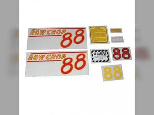 Tractor Decal Set 88 Row Crop Red Mylar Oliver 88