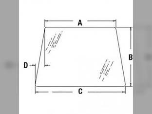Cab Glass - Windshield Case 580C CG6120