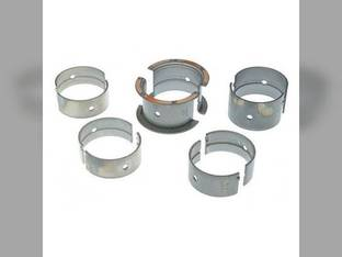 "Main Bearings - .010"" Oversize - Set Allis Chalmers D15 HD3 175 AT40 F30 F40 F50 FD30 FD40 FD50 FDX30 FDX40 FDX50"