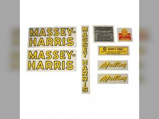 Tractor Decal Set Mustang Mylar Massey Harris Mustang