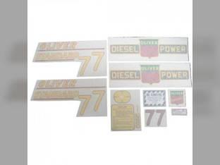 Tractor Decal Set 77 Standard Diesel Yellow Vinyl Oliver 77