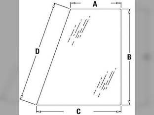 Cab Glass - Rear Quarter RH Case 590 580M 580 Super M 411380A1
