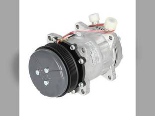 Air Conditioning Compressor - Aftermarket w/Clutch New Holland 1089 2550 1095 TS115 HW340 HW300 TS100 TS110 HW320 LS190 HW305 TS90 2450 9827954 Ford 5640 8340 6640 7840 7740 8240 82008688