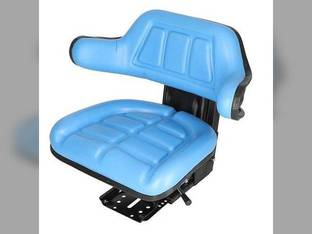 Seat Assembly - Grammer Style Vinyl Blue Ford 7710 7600 2110 6610 4000 5000 7610 3000 8N 4600 2600 4100 3610 5610 2610 6600 4110 5600 4610 2000 3600 Case FIAT John Deere Massey Ferguson New Holland