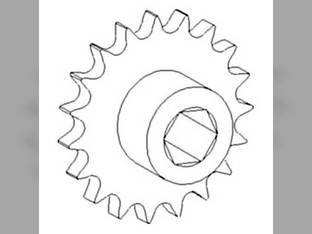 Sprocket Assembly - Lower Tailings Auger John Deere 9400 9501 CTS 9650 9500 SH 9640 9500 9410 9650 CTS 9510 CTSII 9600 9510 SH 9660 CTS 9550 9450 9550 SH 9660 9680 9610 AH130572