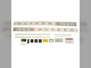 Tractor Decal Set 1650 Diesel Vinyl Oliver 1650